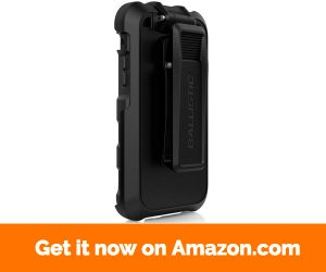 """Ballistic iPhone 6 6S Case [Hardcore Tactical] w Rugged Holster Clip 200 LB Pull Strength Fits 2-1 4"""" Military Waist Belts 12ft Drop Protective Military CERTIFIED [Black] for iPhone 6s, 6"""