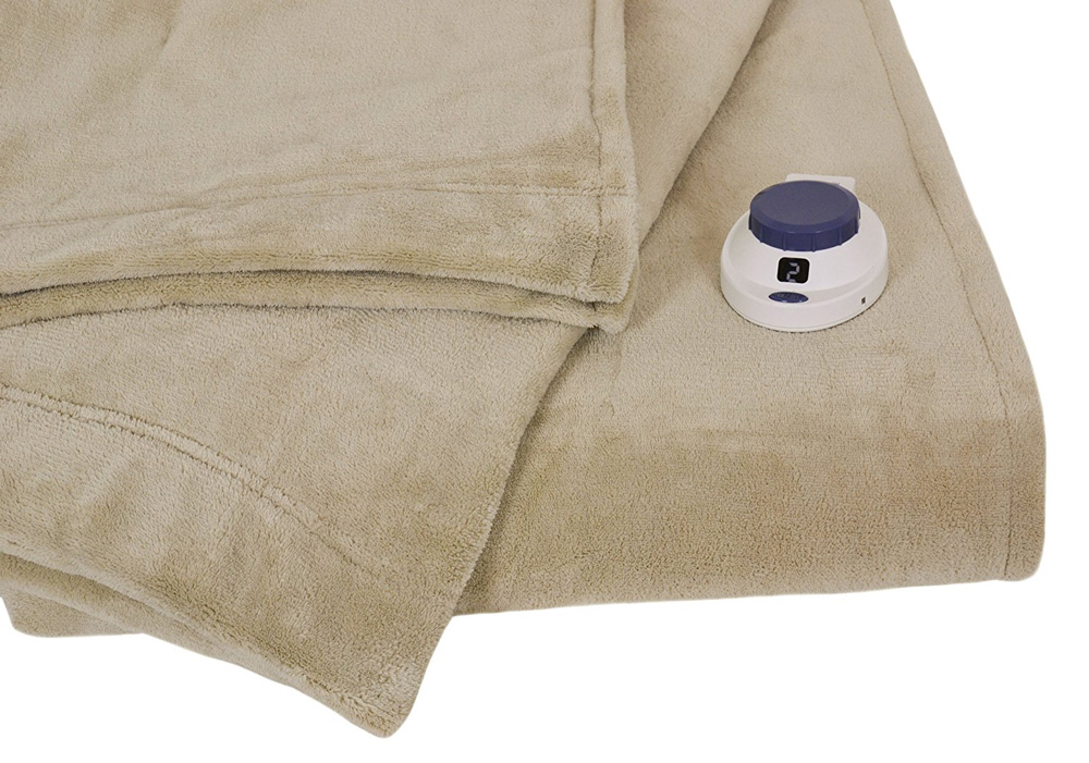 Serta Luxe Electric Heated Micro-Fleece Blanket