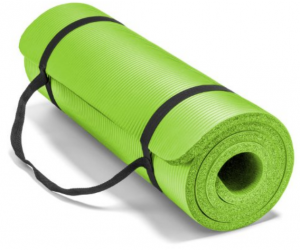 "Spoga Premium Extra Thick 72""24"" Long High Density Exercise Yoga Mat with Comfort Foam and Carrying Straps"