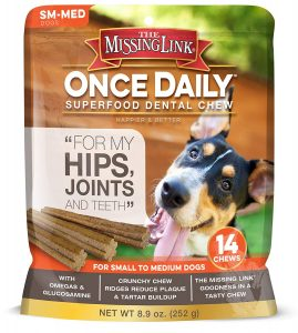 The Missing Link - Once Daily Omega Dental Chews for Dogs