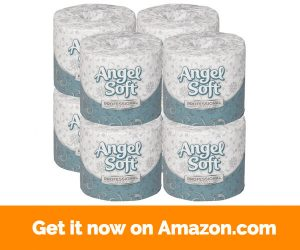 Georgia-Pacific Angel Soft Professional Series 16880 White 2-Ply Premium Embossed Bathroom Tissue, 4.05- Length x 4.0- Width (Case of 8 Rolls, 450 Sheets Per Roll)