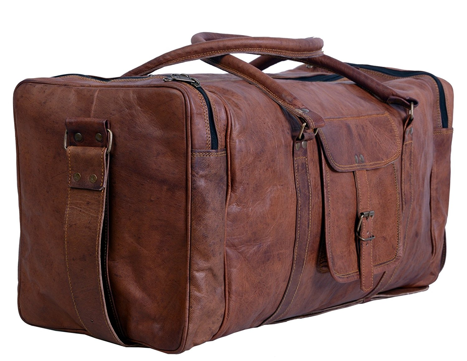Komal's Passion Leather Duffel Bags