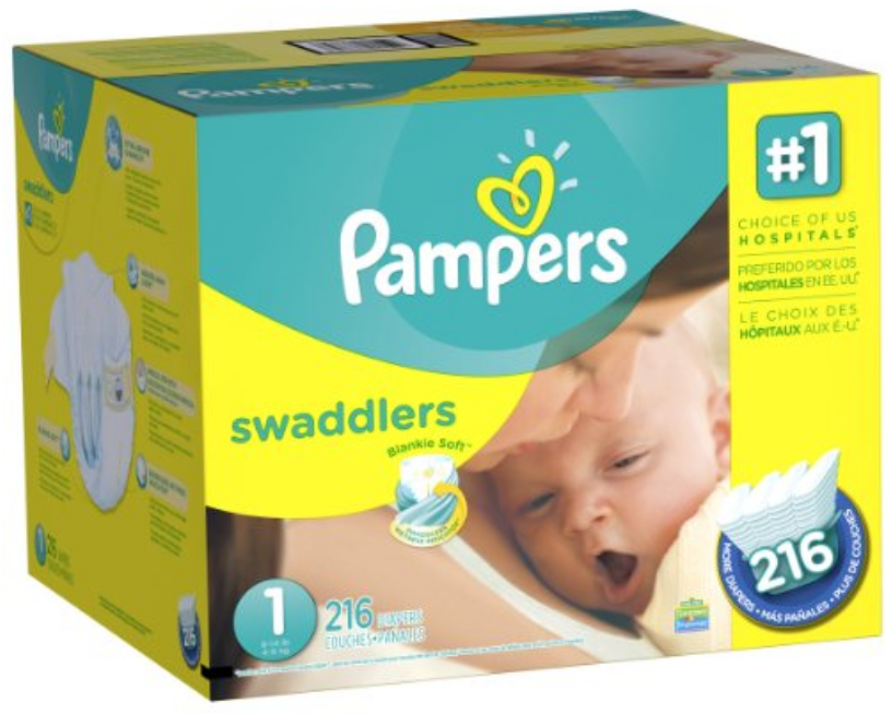 Size:2-228-Count NEW Luvs Baby Disposable Cotton Diapers Ginormous Pack