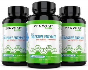 Digestive Enzymes Plus Prebiotics & Probiotics - Natural Support for Better Digestion & Lactose Absorption - for Bloating & Constipation + Gas Relief & Leaky Gut - 25 Vegetarian Capsules