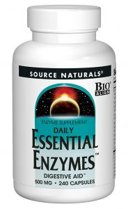 Source Naturals Essential Enzymes 500mg Bio-Aligned Multiple Enzyme Supplement Herbal Defense For Digestion, Gas, Constipation & Bloating Relief - Supports A Strong Immune System