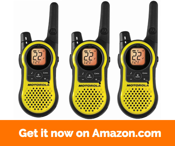 Motorola MH230TPR Rechargeable Two Way Radio 3 Pack, FRS GMRS