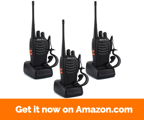 Retevis H-777 Two Way Radios Long Range UHF 400-470MHz 16CH CTCSS DCS Walkie Talkies with USB Charger (3 Pack)