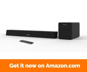 Sound Bar with subwoofer, MEGACRA 2.1 Channel 100Watt Home Theater Sound Bar for TV with Sub Wired and Wireless Connection Bass Adjustable