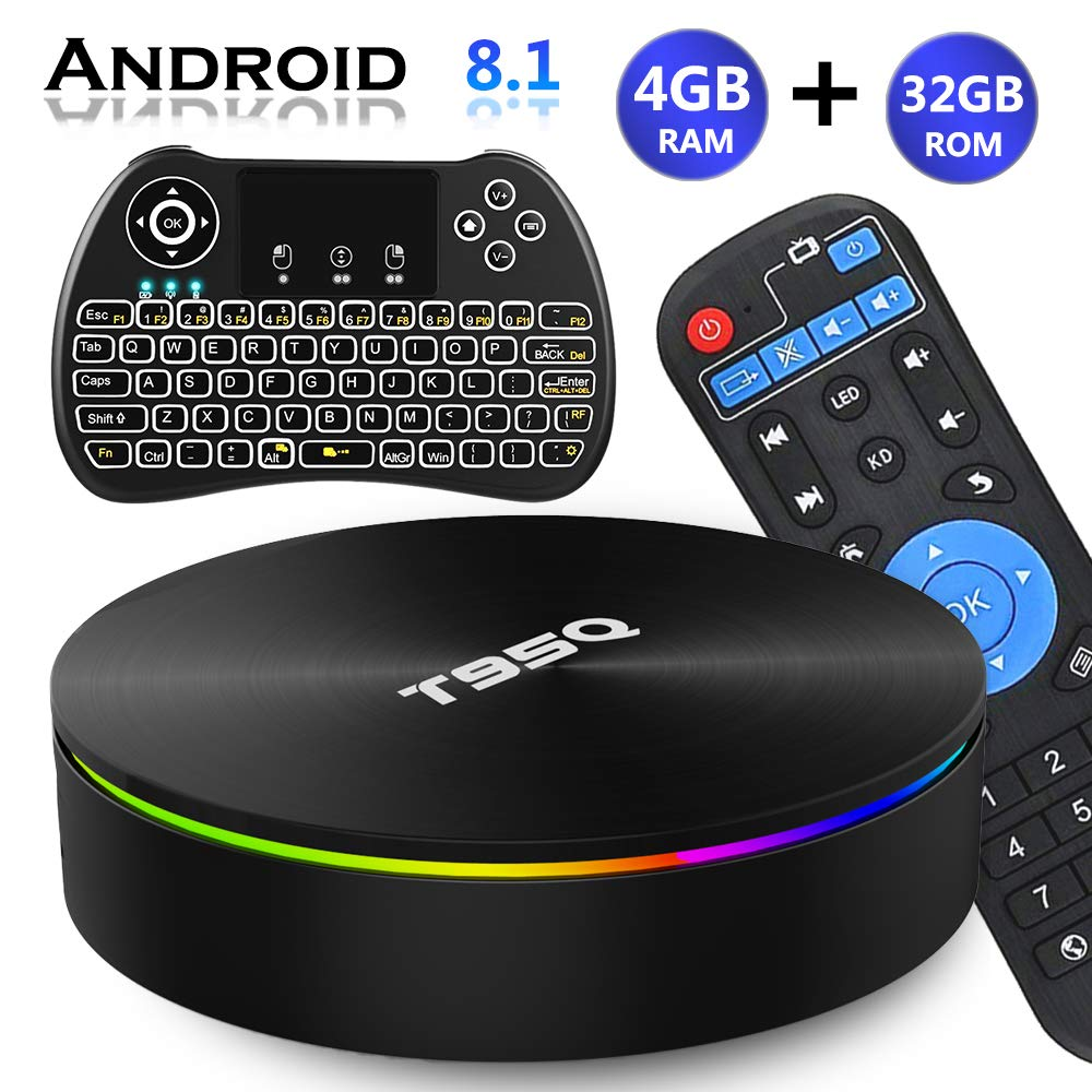 Android TV Box 8.1, EVANPO Android TV Player Quad-Core Amlogic S905X2