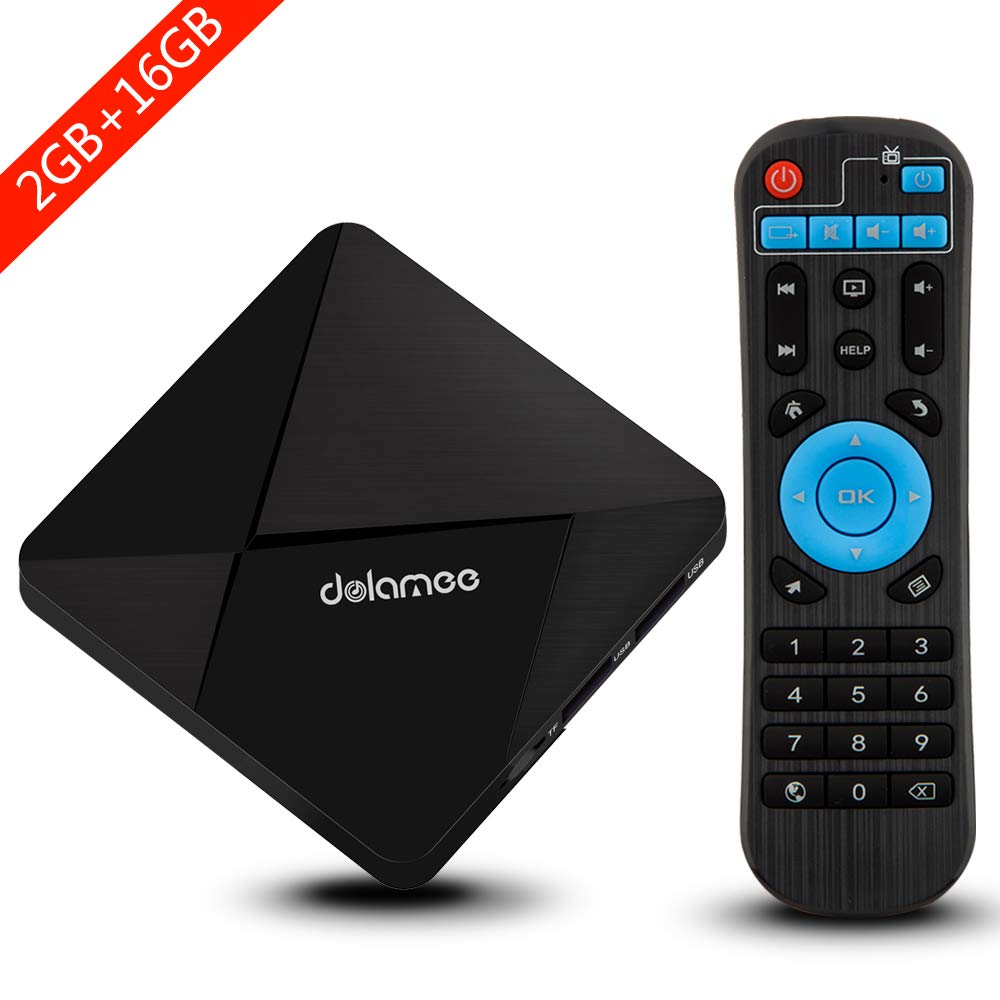 Android TV Box, Dolamee D5 Android 7.1 TV Box Amlogic S905 Quad-core 64 Bits Processor 2GB RAM 16GB ROM Smart Media Player with 3D 4K Wifi Built-in Bluetooth4.0