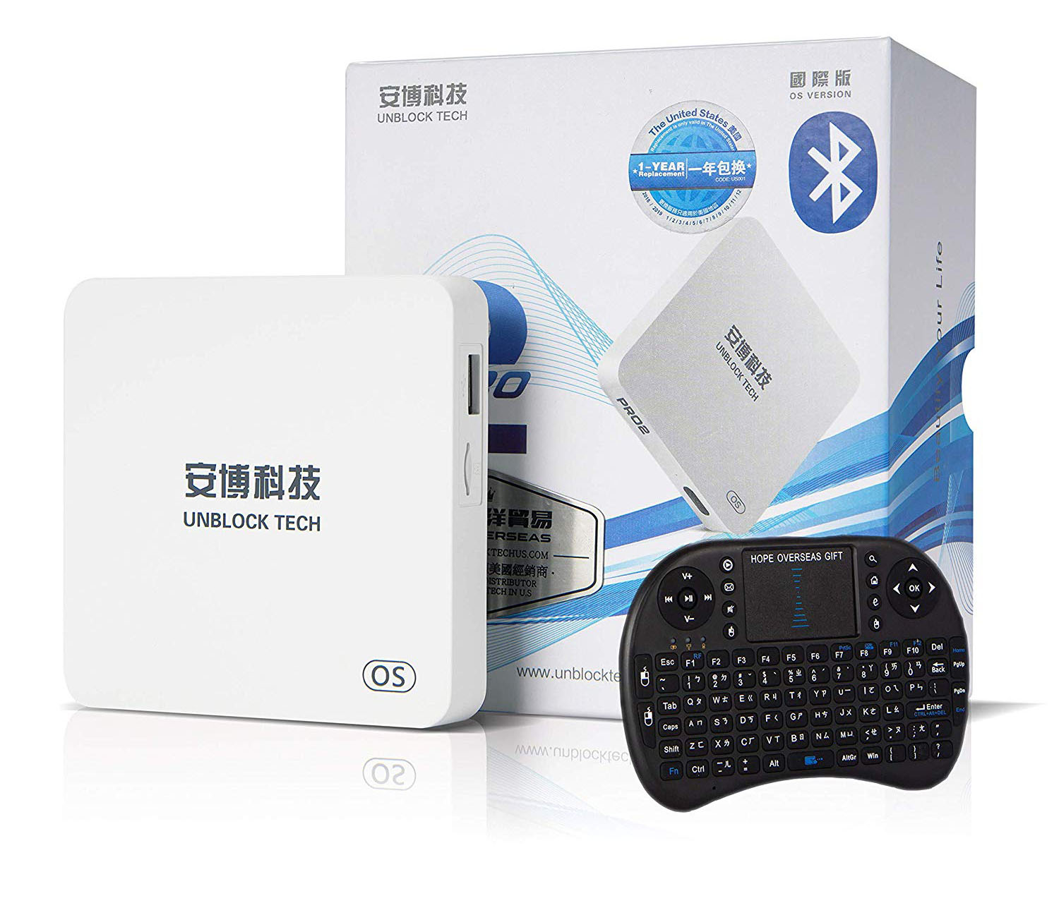 HOPE OVERSEAS 2019 unblock tech Model UBOX PRO2 i950 US Licensed Jailbreak Version Box Contain Surprise Accessories with World Wide Certification
