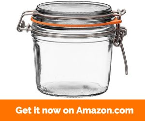 4 Le Parfait Super Terrines - Wide Mouth French Glass Preserving Jars - Zero Waste Packaging (4, 350ml - 12oz)