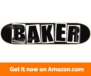 Baker Brand Logo Deck-8.0 Black White Skateboard Deck