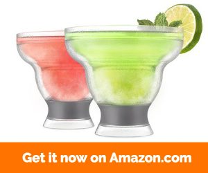 HOST Margarita FREEZE Cooling Cups (Set of 2), Grey