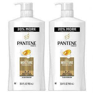 Pantene, Shampoo and Conditioner 2 in 1, Pro-V Daily Moisture Renewal for Dry Hair