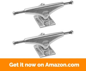 Krux Trucks K4 5.0- Silver Skateboard Trucks - 7.6- Axle (Set of 2)