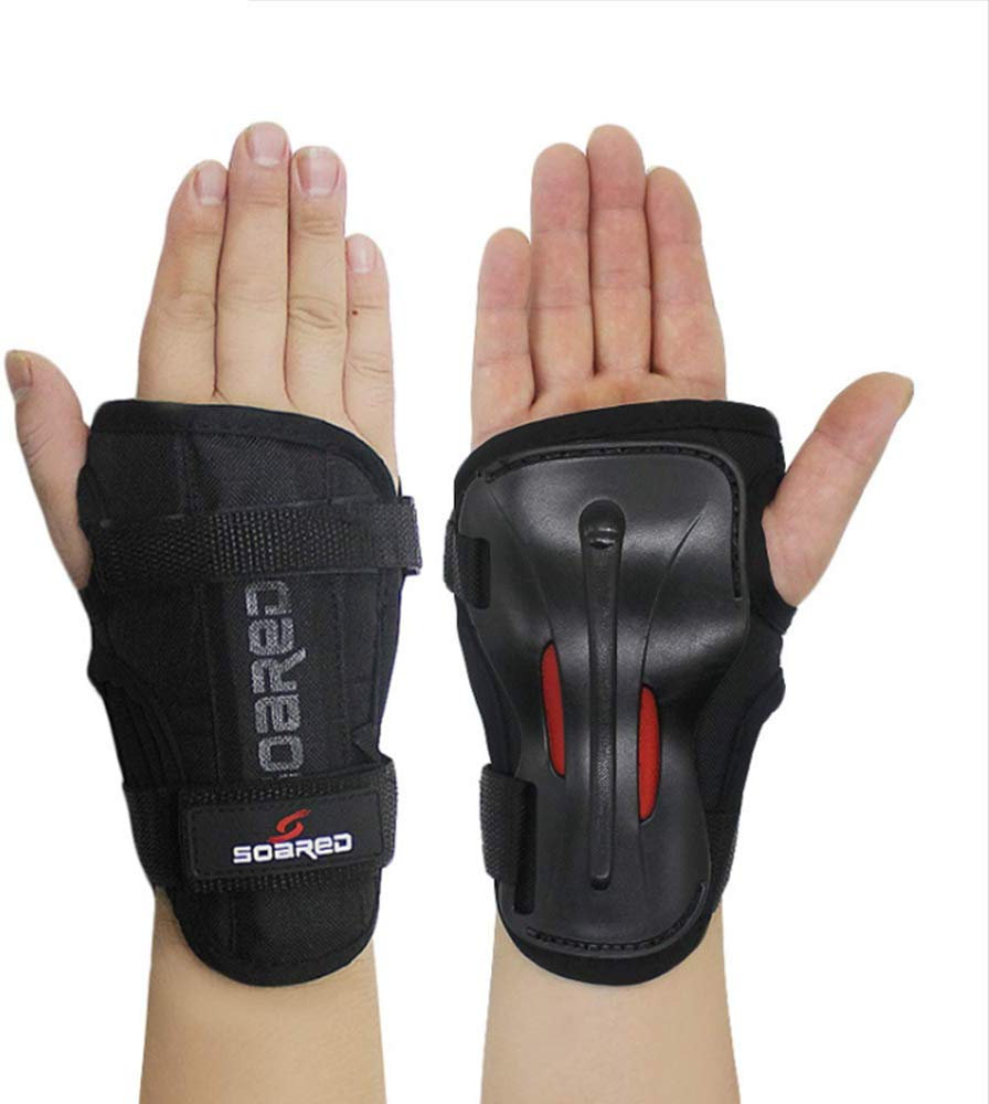 LALATECH Skiing Handguards Long Wrist Guards Roller Skating Hand Palm Skating Handguards Hard Hand Support Strong Protective Gear Skating Gloves