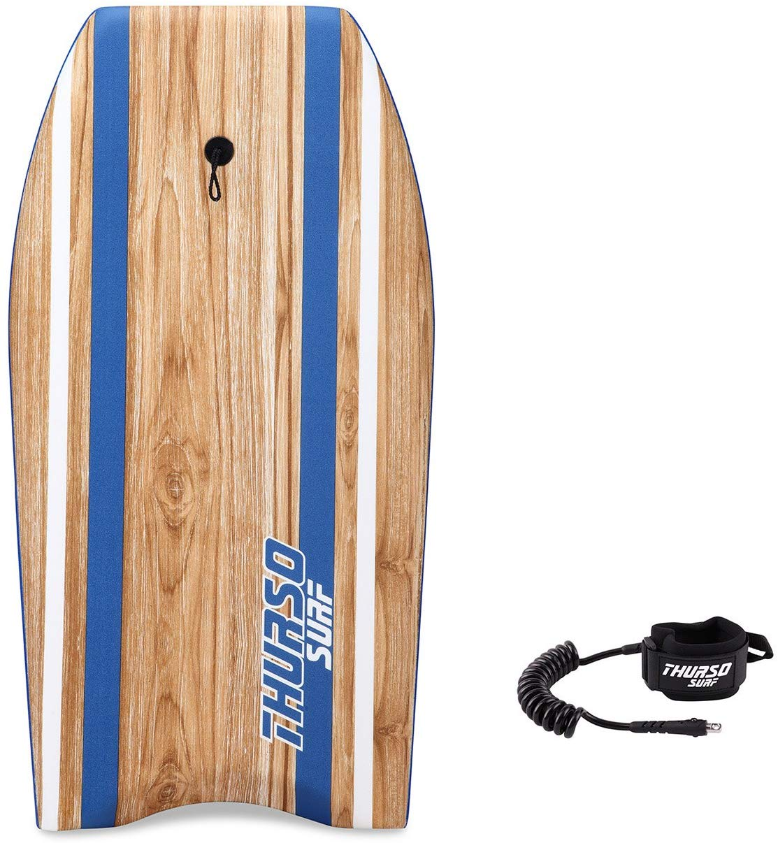 THURSO SURF Quill 42inch Bodyboard Package EPS Core IXPE Deck HDPE Slick Bottom Durable Lightweight Includes Double Stainless Steel Swivels Coiled Leash