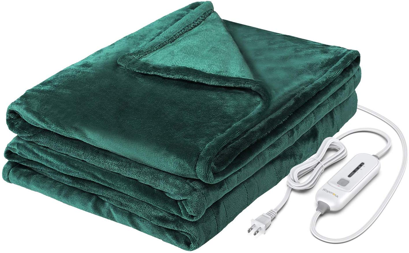 WAPANEUS Electric Heated Blanket with 3 Heating Levels and Auto Shut Off,Soft Plush Heated Throw Blanket with Fast-Heating and Machine Washable Fabrics For Couch or Bed Use