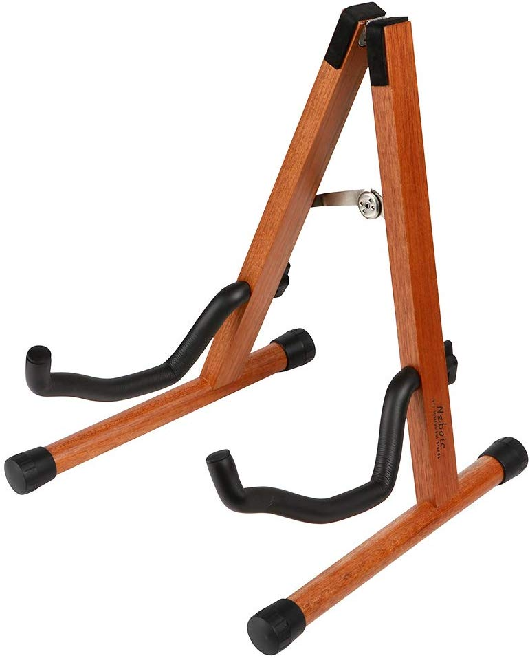 Guitar Stand, Neboic Wood Acoustic Guitar Stand, Electric Guitar Stand, Bass Banjo Guitar Stand, Portable Guitar Stand Holder for Multiple Guitars, Guitar Accessories