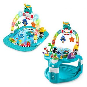 Baby Einstein 2-in-1 Lights & Sea Activity Gym & Saucer-Seat