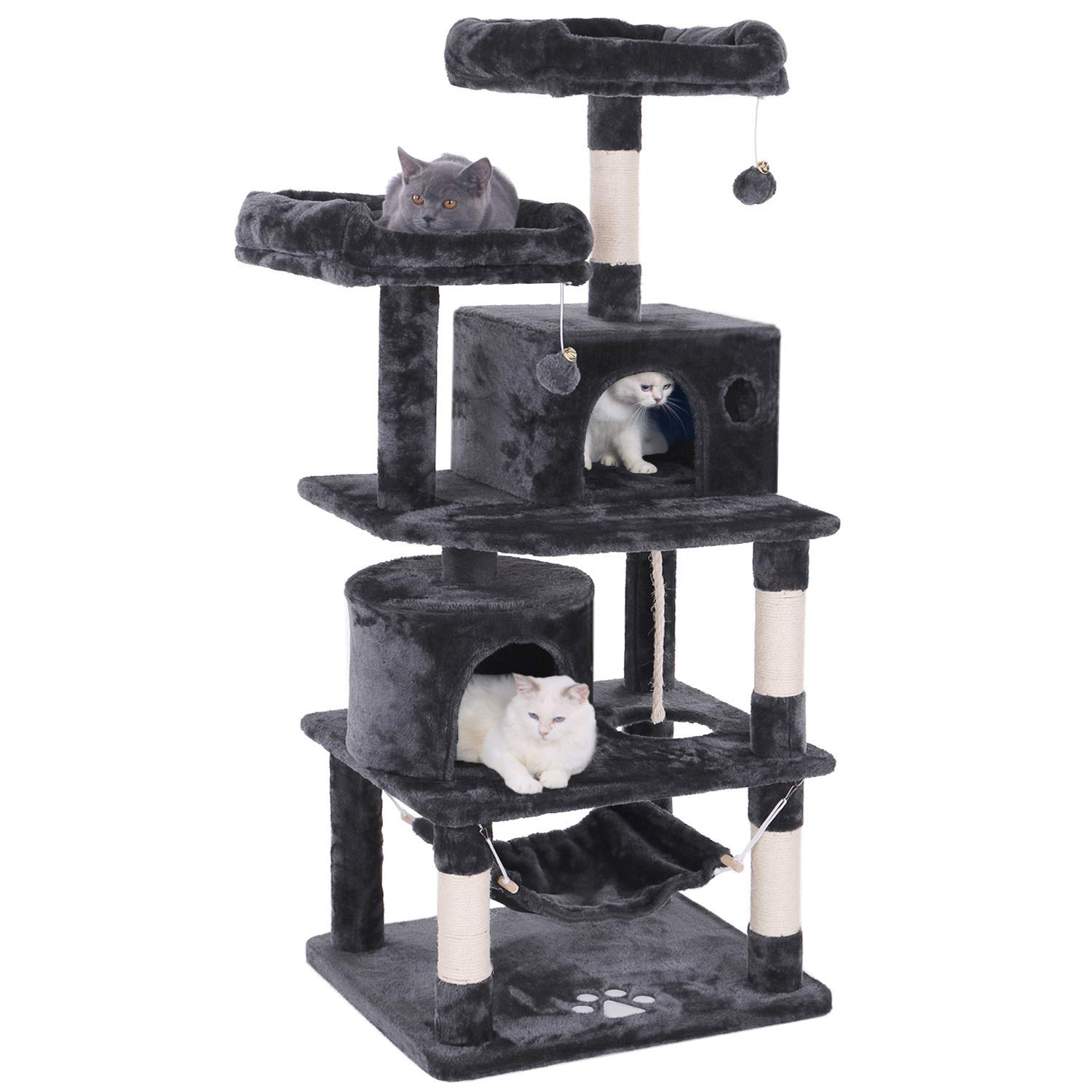 Bewishome 57 Inch Activity Tower Cat Tree