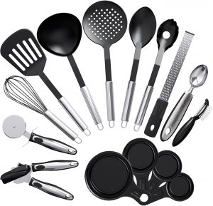 Vremi Nonstick 15 – Piece Utensils Kitchen Set