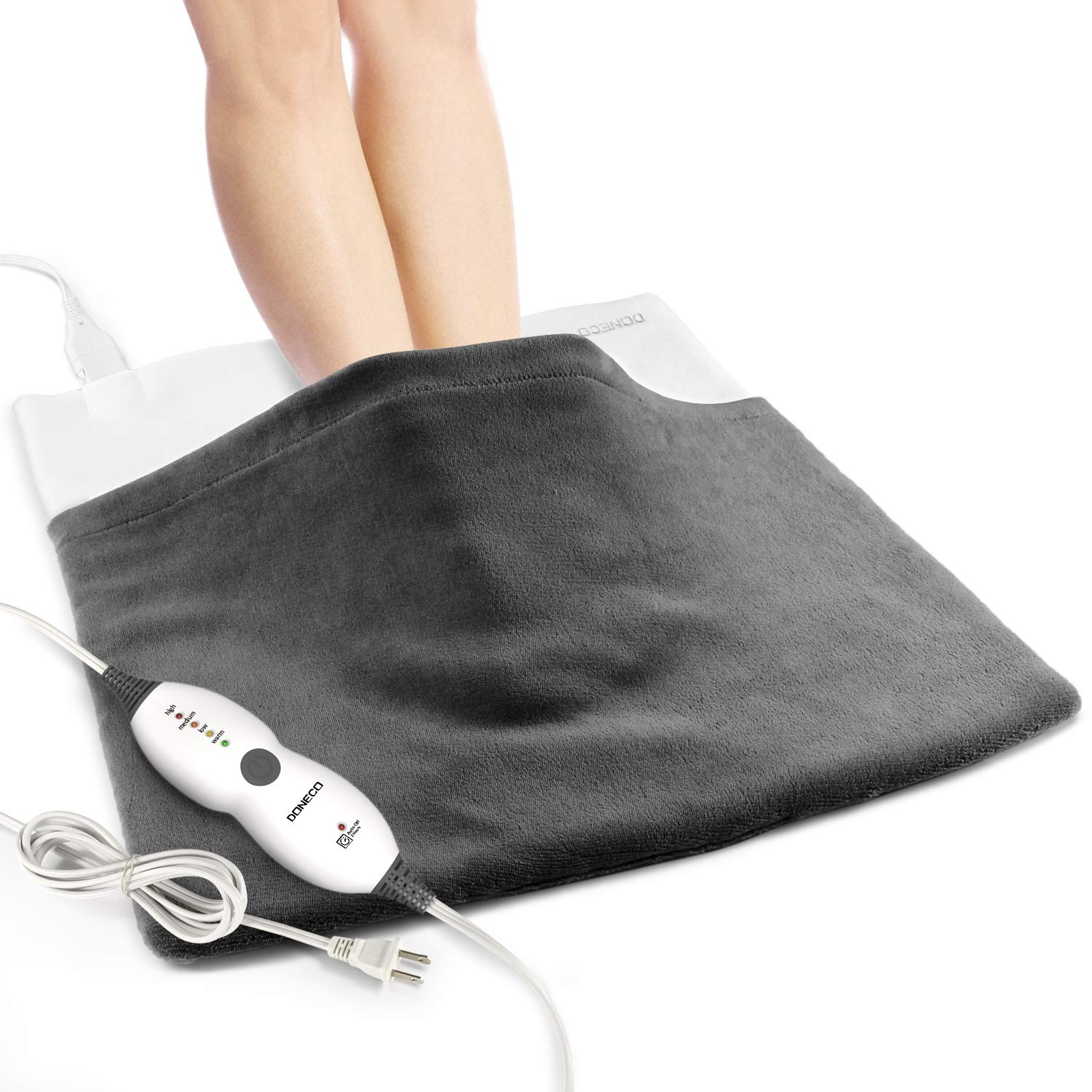 DONECO King Size Heating Pad, Electric Foot Warmer with 4 Temperature Settings and Fast-Heating Technology