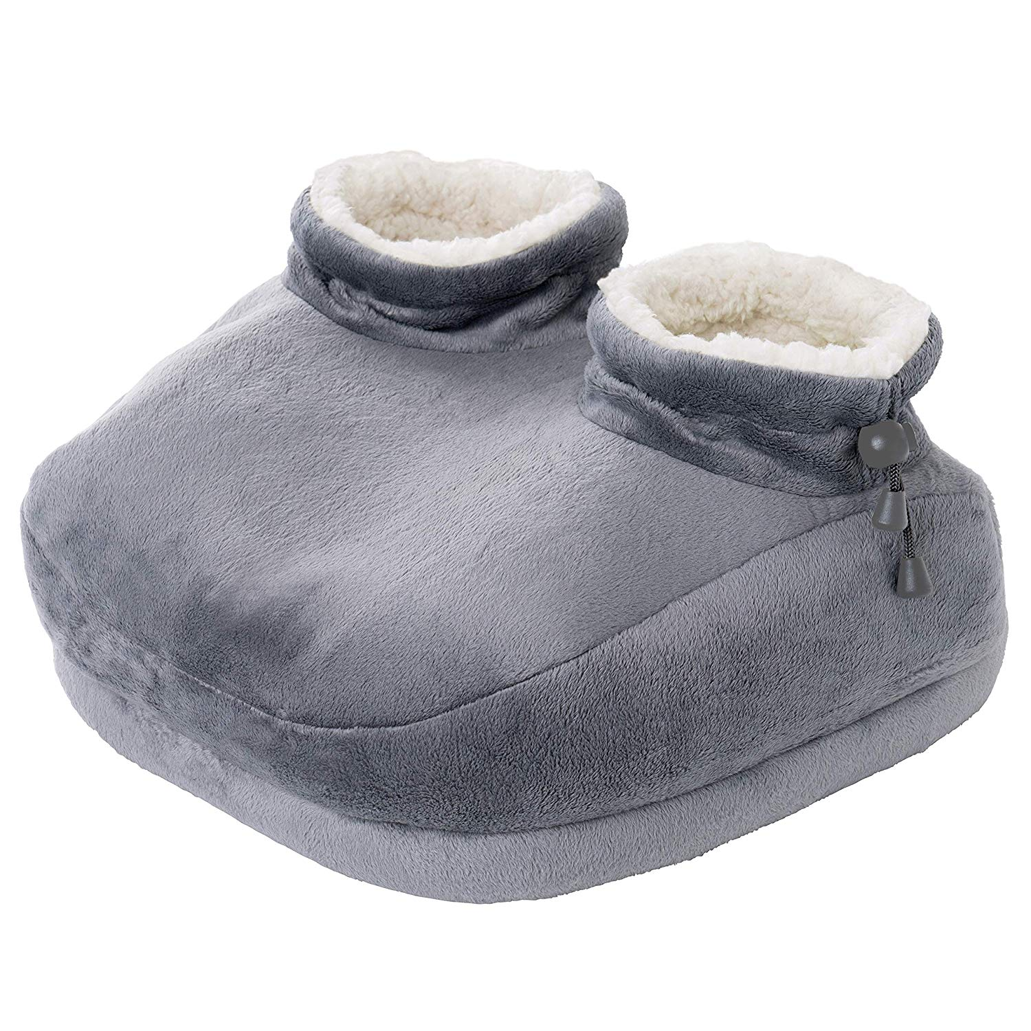 Pure Enrichment PureRelief Deluxe Foot Warmer - Super-Soft Sherpa-Lined, Fast-Heating Electric Boots