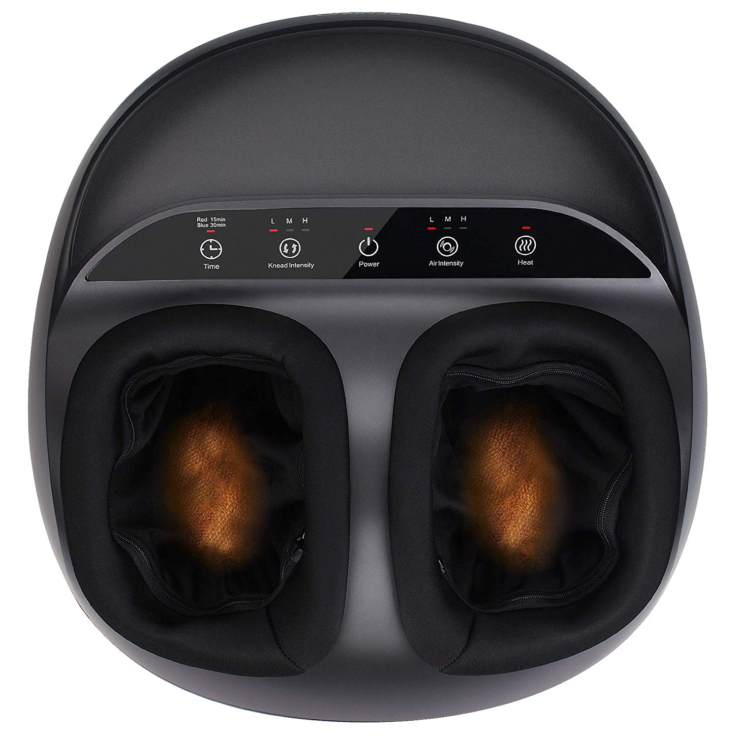 RENPHO Shiatsu Foot Massager Machine with Heat, Deep Kneading Therapy, Air Compression, Relieve Foot Pain from Plantar Fasciitis, Improve Blood Circulation, Insomnia, Fits large feet