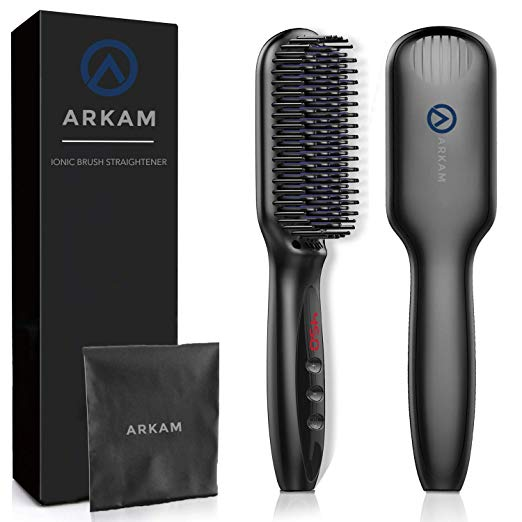 Arkam Beard Straightener for Men, Ionic Beard Straightening Comb