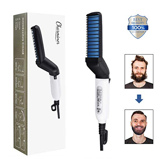CHARMINER Electric Comb for Men, Man's Style Massage Comb, Hair Straightener for Hair and Beard