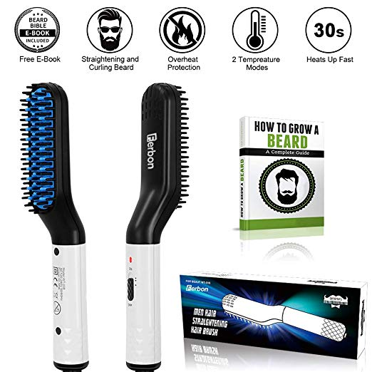Electric Beard and Hair Straightener Brush Comb