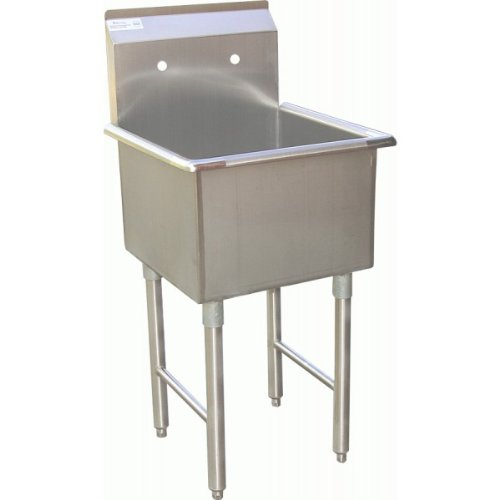 1 Compartment Preperation Sink15inx15in Stainless Steel Utility Prep NSF. SE15151P