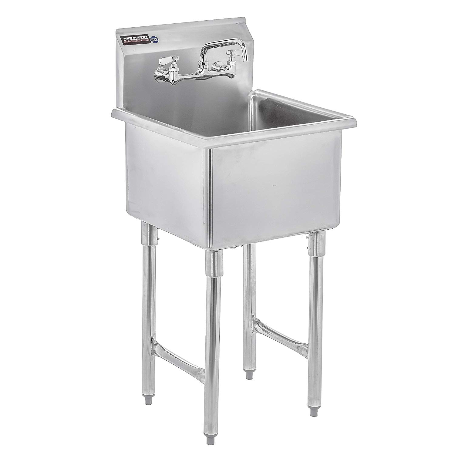 DuraSteel Stainless Steel Prep & Utility Sink - 1 Compartment Commercial Kitchen Sink - NSF Certified