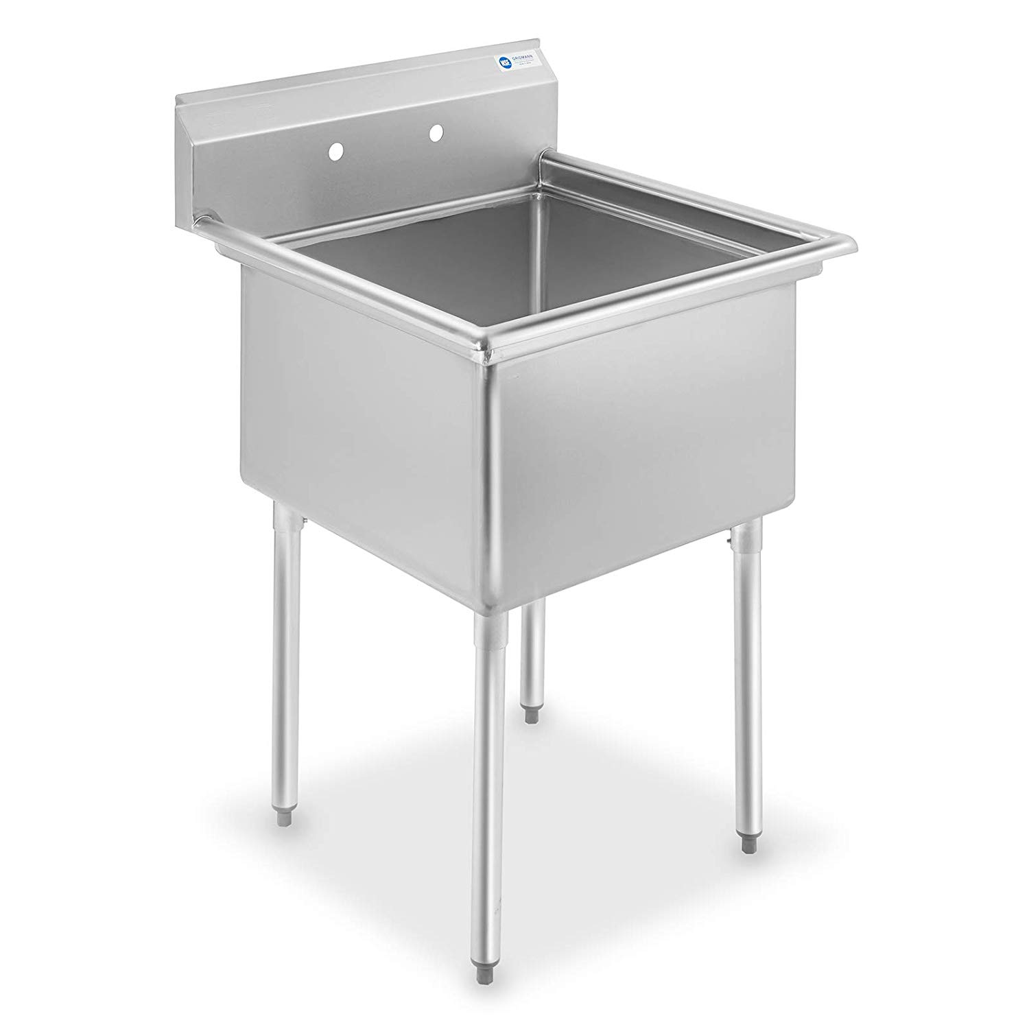 GRIDMANN 1 Compartment NSF Stainless Steel Commercial Kitchen Prep & Utility Sink - 30 in. Wide