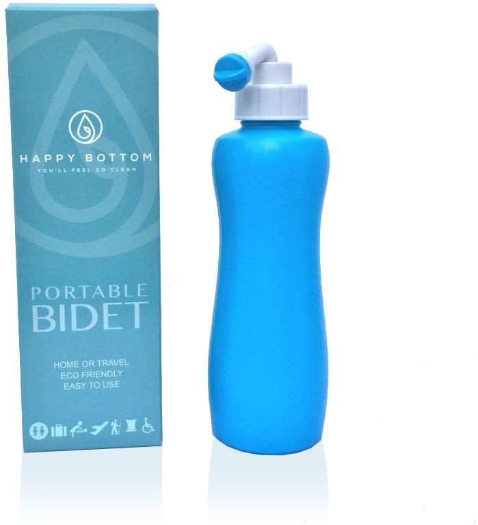 Happy Bottom Washer a Portable Bidet - You'll Feel So Clean. Handheld Portable Bidet Peri Bottle for Home or Travel. Eco Friendly, Sanitary, and Natural. By The Happy Brand Company