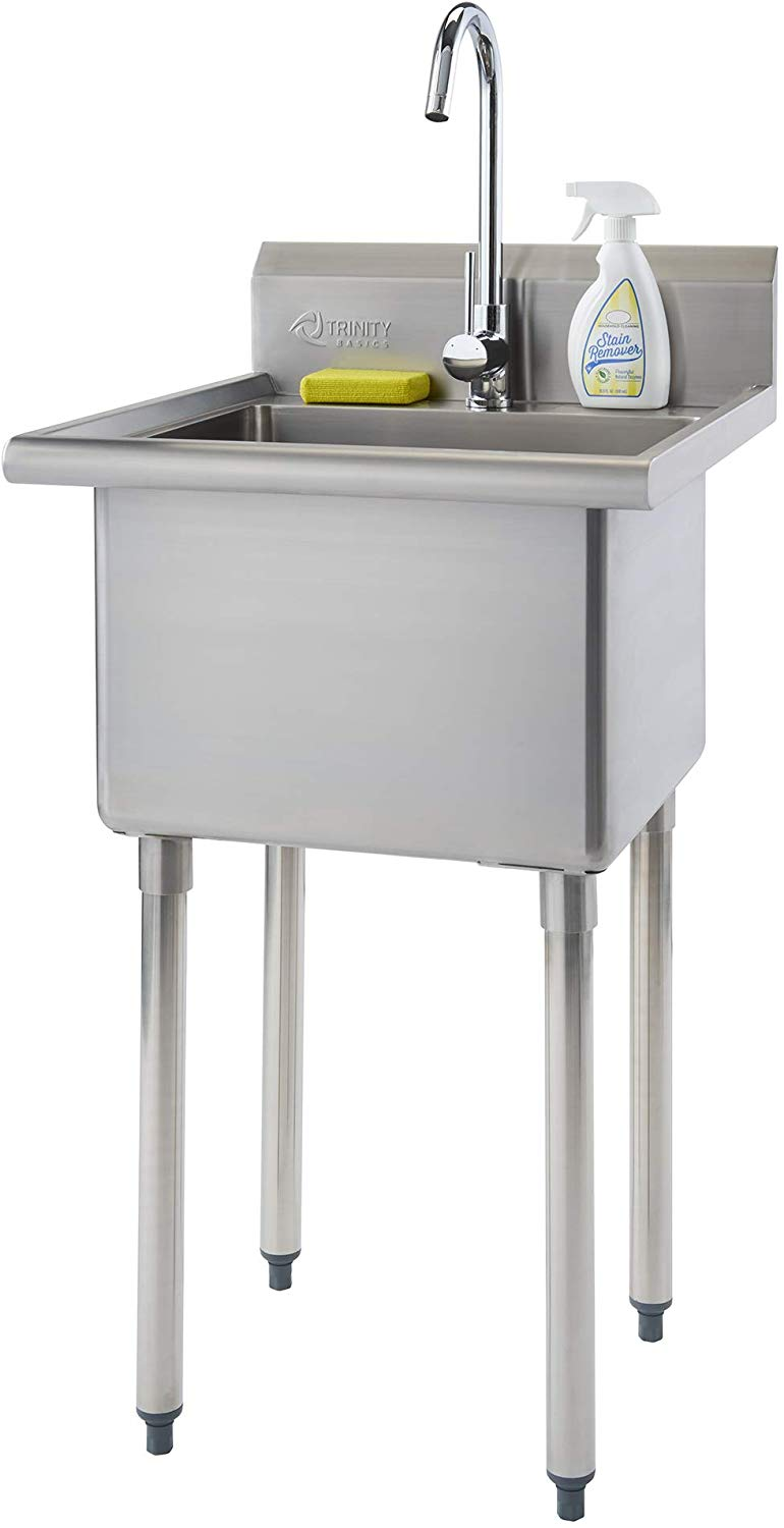 TRINITY THA-0307 Basics Stainless Steel with Faucet Utility Sink,