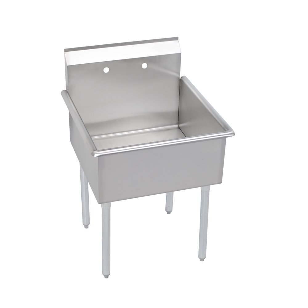 Utility Utility Sink, 1-Compartment 12in Deep Bowl, No Drainboards, 21 (L) X 24.5 (W) X 42.75 (H) Over All