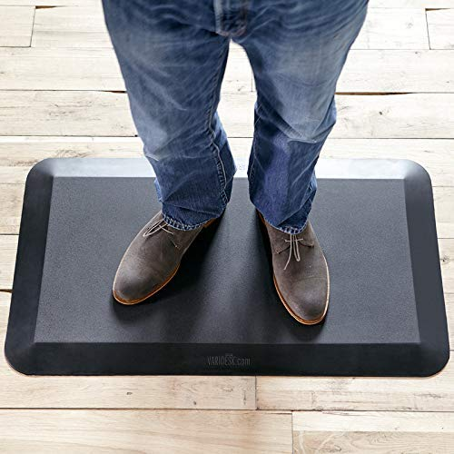 VARIDESK- 5.8inch Non-Slip Anti-Fatigue Comfort Mat 20inx34in, for Kitchens or Standing Desk