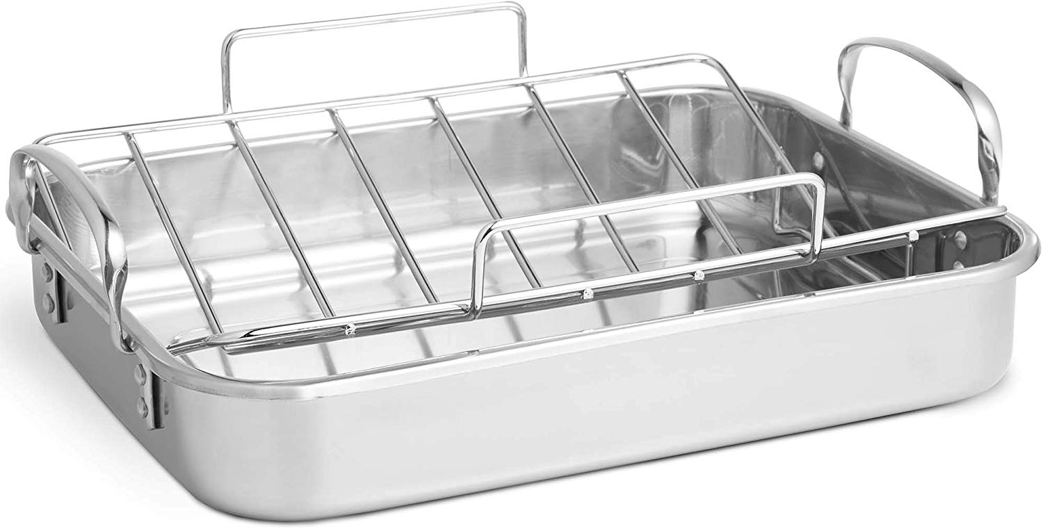 VonShef Stainless Steel Roaster Pan with Rack