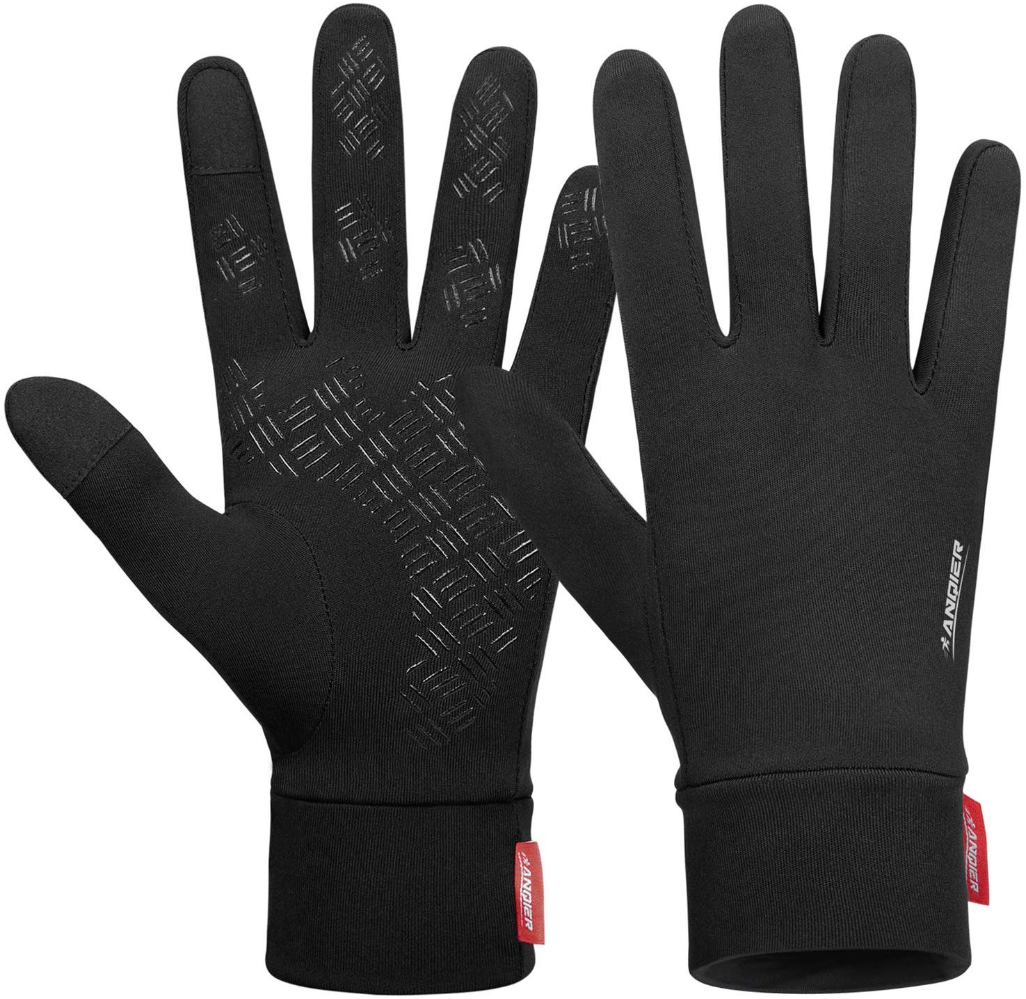 Lanyi Running Sports Gloves Compression Lightweight Windproof Anti-Slip Touchscreen Warm Liner Cycling Work Gloves