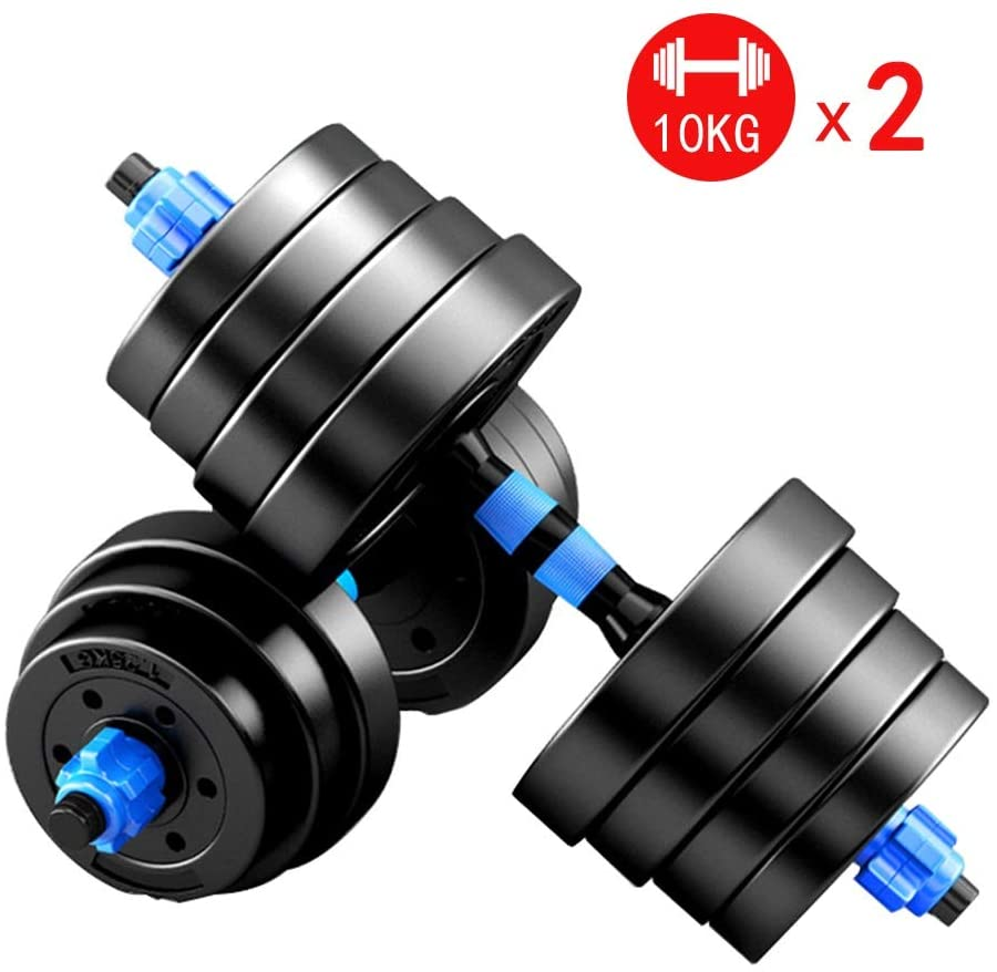 Summerone Dumbbells Pairs 3-44 lbs Adjustable Dumbbell Weight Set